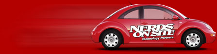 red nerds on site service car
